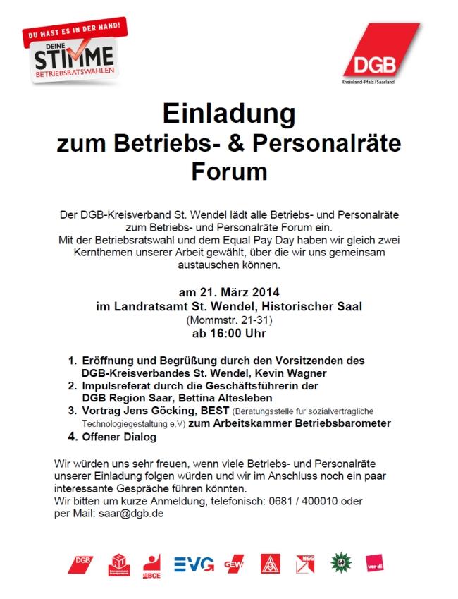 Einladung BR Forum