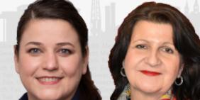 Susanne Wingertszahn und Bettina Altesleben
