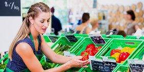 Verkäuferin Supermarkt