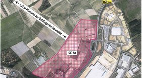 Plangebiet der Erweiterung des Gewerbegebietes Lisdorfer Berg