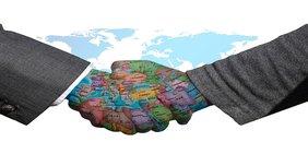 Handschlag, Welt, Frieden
