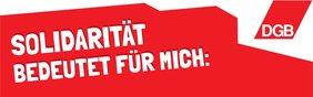 Banner Solidarisch 1. Mai 2020