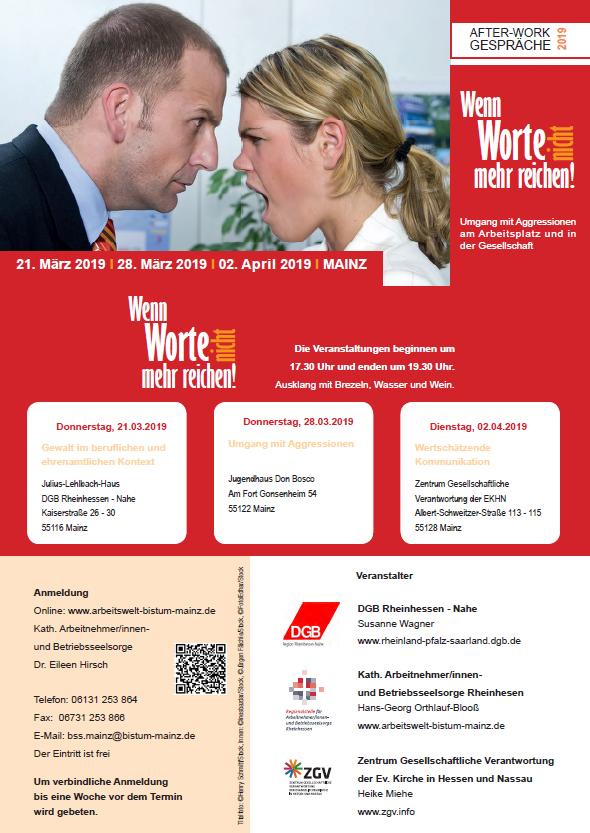 Flyer After-Work-Gespräche 2019