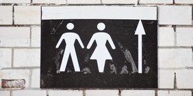 Geschlechterpiktogramm vor Toiletten