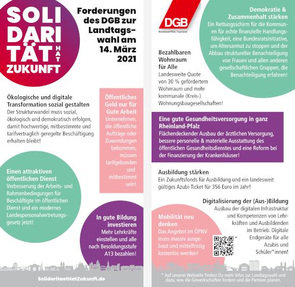 10-Punkte-Karte zur Landtagswahl 2021