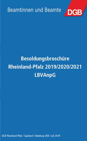 Besoldungsbroschüre Rheinland-Pfalz