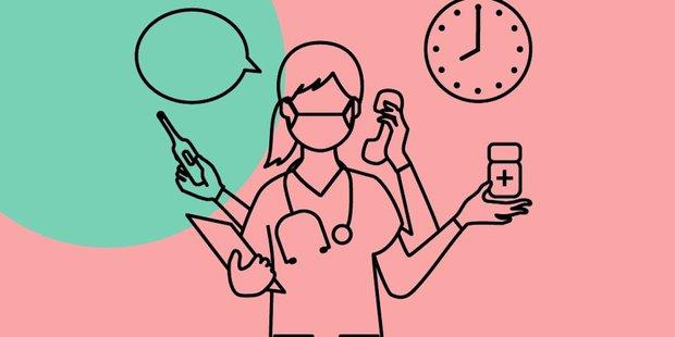 Krankenschwester im Stress